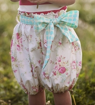 Persnickety Bubblie Shorts for Girls Daffodils and Dandelions