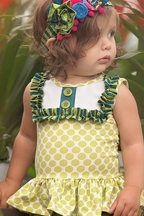 Persnickety Charming Baby Top Lou Lou Peplum