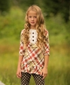 Persnickety Clara Estelle Top for Girls Tartan Plaid