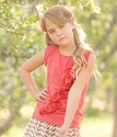 Persnickety Clothing Coral Girls Top