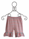 Persnickety Clothing Coral Striped Mae Shorts - 18 Mos, 4 & 5