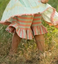 Persnickety Clothing Coral Striped Mae Shorts