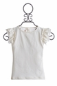 Persnickety Clothing Cream Double Ruffle Tee