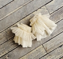 Persnickety Clothing Cream Ruffle Cuffs