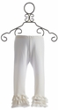 Persnickety Clothing Cream Triple Ruffle Leggings