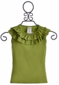 Persnickety Clothing Green Hannah Ruffle Top