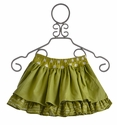 Persnickety Clothing Green Lilly Skirt Bo Peep (Size 8)