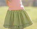 Persnickety Clothing Green Lilly Skirt Bo Peep