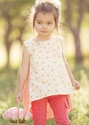 Persnickety Clothing Juliet Girls Tunic Apple Blossom
