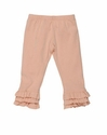 Persnickety Clothing Pink Leggings with Triple Ruffle