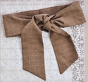 Persnickety Clothing Sash in Brown Plaid