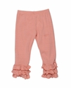 Persnickety Clothing Triple Ruffle Girls Legging Pink