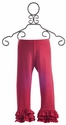 Persnickety Clothing Triple Ruffle Legging Coral
