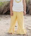 Persnickety Clothing Yellow Stripe Bell Pant