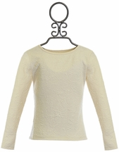Persnickety Couture Top for Girls in Ivory
