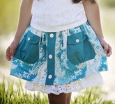 Persnickety Daffodils and Dandelions Chloe Skirt for Little Girls