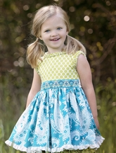 Persnickety Daffodils and Dandelions Kassidy Tunic for Girls