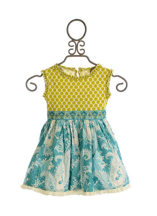 Persnickety Daffodils and Dandelions Kassidy Tunic for Girls (Size 12Mos)
