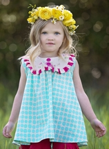 Persnickety Daffodils and Dandelions Sara Top for Girls