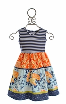 Persnickety Della Dress for Girls Alpine Daisy