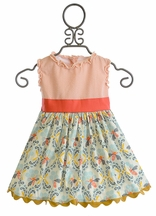 Persnickety Designer Little Girls Dress in Orange (Size 12 Mos)