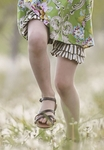 Persnickety Double Ruffle Shorts Daffodils and Dandelions