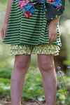 Persnickety Double Ruffle Shorts Forget Me Not