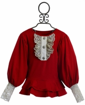 Persnickety Elegant Tunic for Girls in Red (4 & 5)