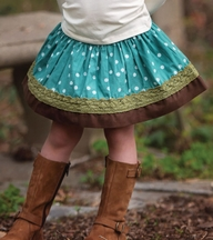 Persnickety Emerald Pine Ruth Skirt (Size 8)