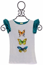 Persnickety Everly Butterfly Girls Tee (6-12Mos,18-24Mos,3)