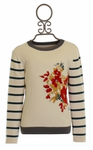 Persnickety Flora Sweater for Girls