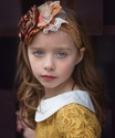 Persnickety Flower Headband in Autumn for Girls