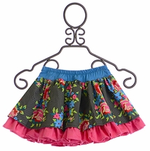 Persnickety Forget Me Not Lily Skirt for Girls (18Mos,3,4)