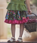 Persnickety Forget Me Not Lily Skirt for Girls