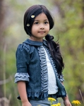 Persnickety Forget Me Not Stella Jacket for Girls in Denim