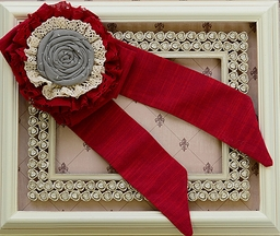 Persnickety Frilly Rose Belt for Girls in Red