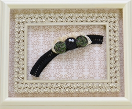 Persnickety Garland Headband in Black and Green