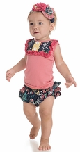 Persnickety Gigi Diaper Cover in Floral (3-6Mos & 6-12Mos)