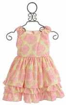 Persnickety Girls Couture Dress in Pink with Bow
