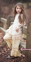 Persnickety Girls Cream Pintuck Gaucho