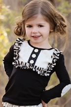 Persnickety Girls Lou Lou Top in Black (Size 12 Mos)