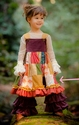 Persnickety Girls Patchwork Dress with Wide Straps