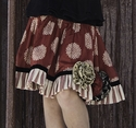 Persnickety Girls Rosette Red Skirt