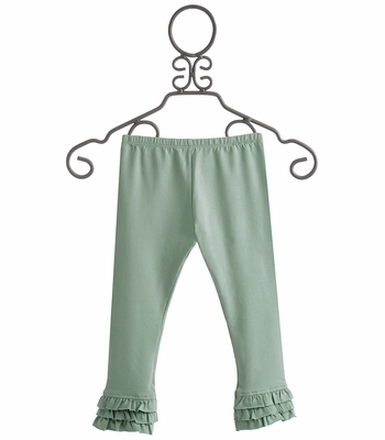 Persnickety Girls Ruffle Legging in Turquoise