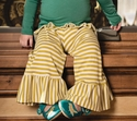Persnickety Green Striped Bell Pant