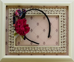 Persnickety Hard Headband for Girls in Black