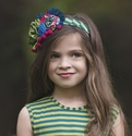Persnickety Hard Headband in Clover Forget Me Not