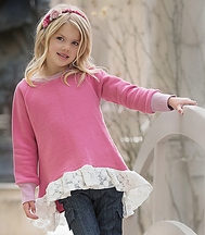 Persnickety Hi Lo Sweatshirt Pretty in Pink (Size 12 Mos)