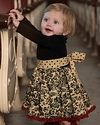 Persnickety Holiday Baby Cassie Dress (Size 12-18 Mos)