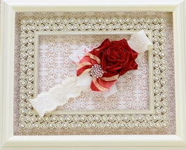 Persnickety Ivory and Red Soft Headband Ada